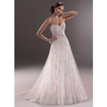 5e6ca5f1466 Maggie Sottero Wedding Dresses 2014. chiffon strapless dipped ...