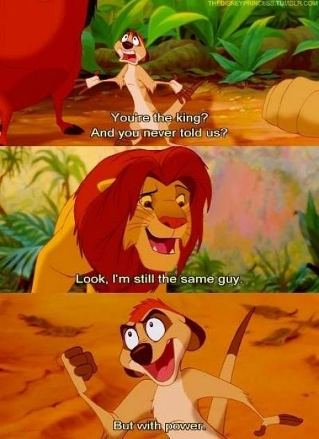 Ahhh the lion king