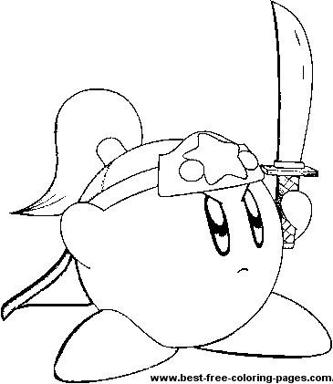 kirby sword coloring pages best free coloring pages com