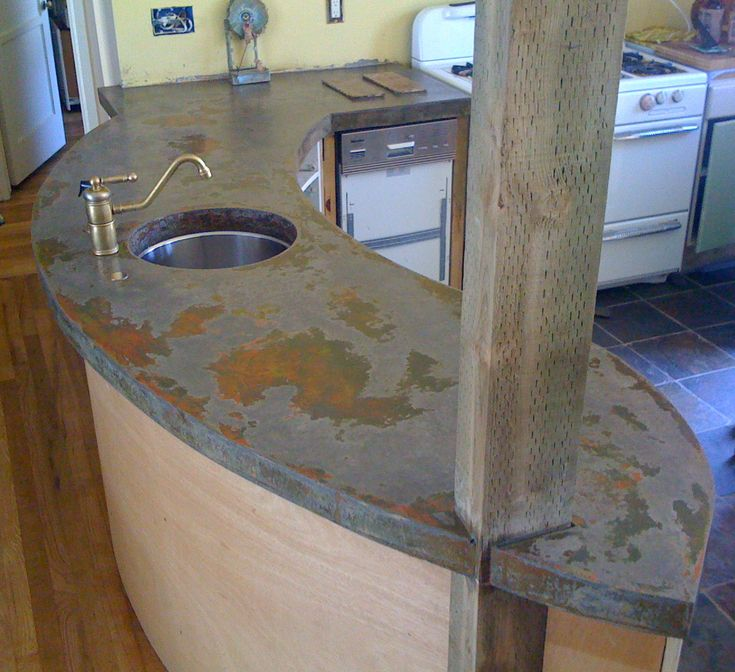 Poured Concrete Countertop Objects That Inspire Pinterest