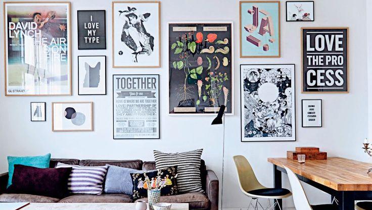 The cool Copenhagen home of a typographer. I Love My Type.
