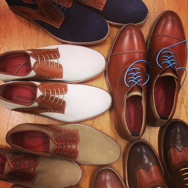 oxfords, saddles, and wingtips #johnstonmurphy