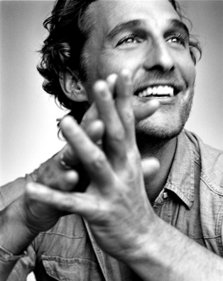 Matthew McConaughey, with smiling eyes...