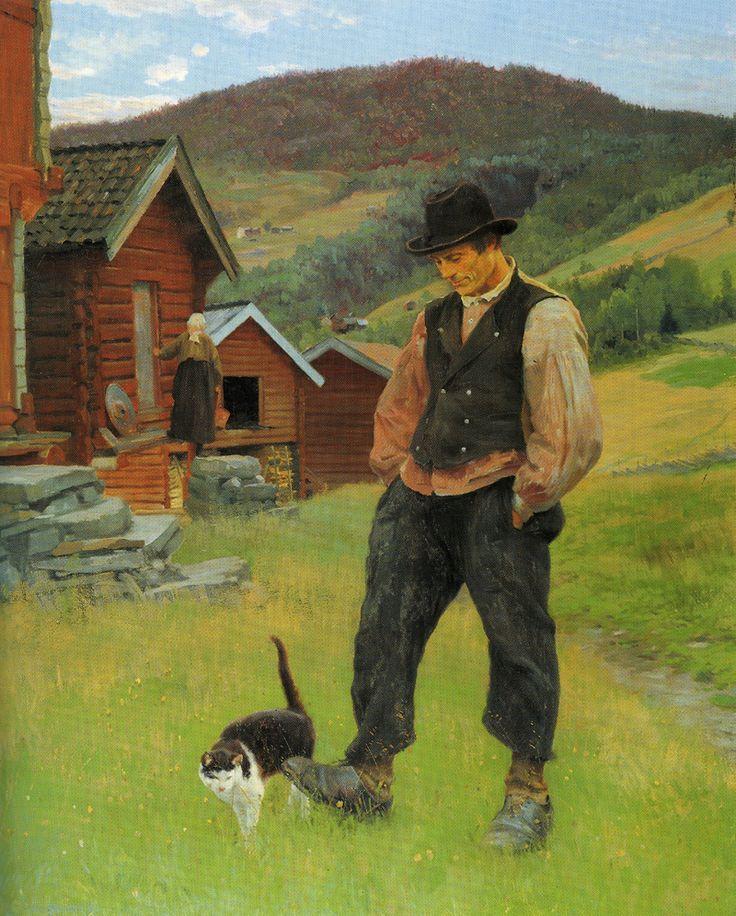 agrarianrhythm:  Idyll byChristian Skredsvig (1888)