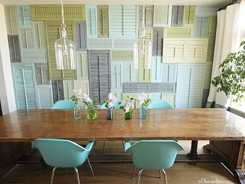 shutter wall diy art