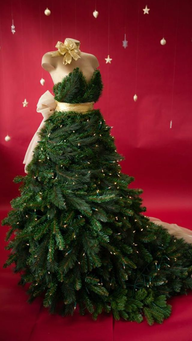 Got all spruced up for the Holidays,Christmas tree dress,decorative dress form/mannequin  You can find new or used dress forms at MannequinMadness.com for projects like this