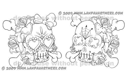 punk rock coloring pages sugar skull sketches originally uploaded
