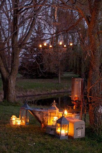 lanterns by the creek