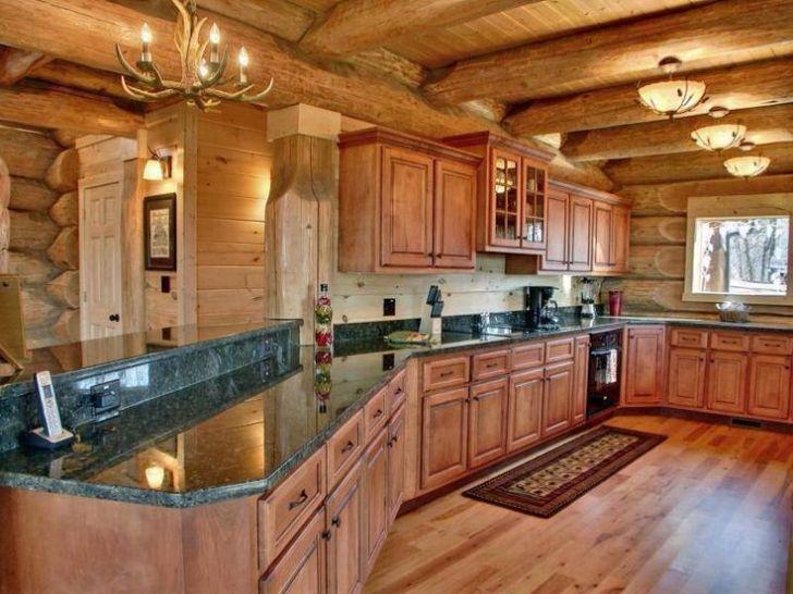 Log Cabin Kitchen Room Ideas