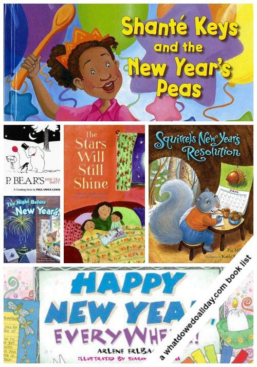Fun New Year's Books for Kids - learn about different traditions and resolutions.