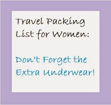 Samantha En Route: Don't forget the extra underwear! Packing list for...