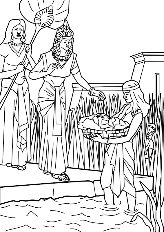 found by pharaoh 39 s daughter in the reeds mariam looks on
