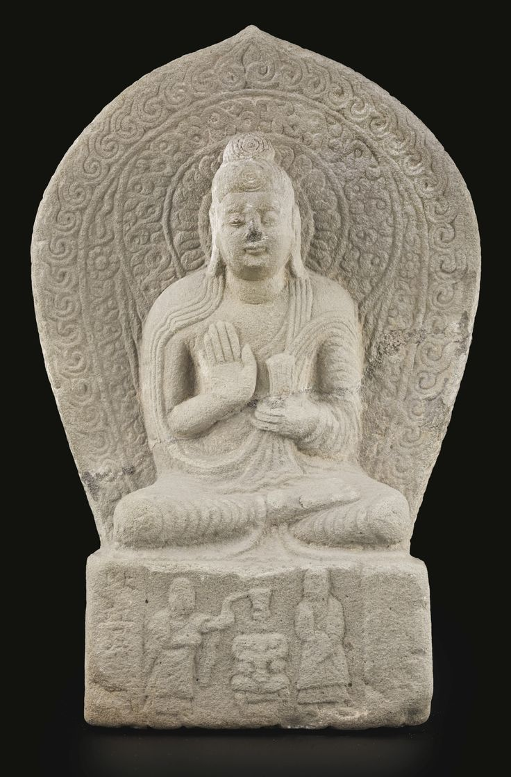 A rare limestone figure of Buddha, China, northern Wei dynasty, dated Taihe 18th year, corresponding to 494 AD. | Lot | Sotheby's