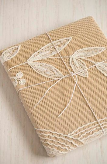 lace over craft paper