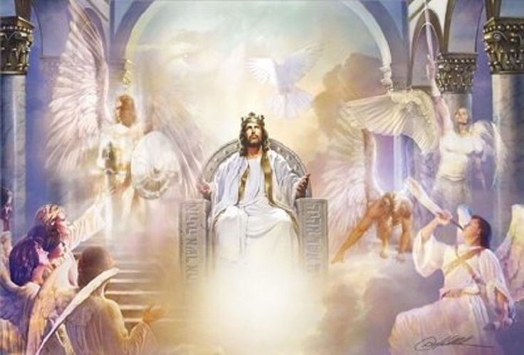 Image result for jesus on his throne
