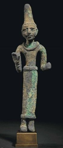 A Canaanite bronze deity or worshipper, circa 1550-1200 B.C.