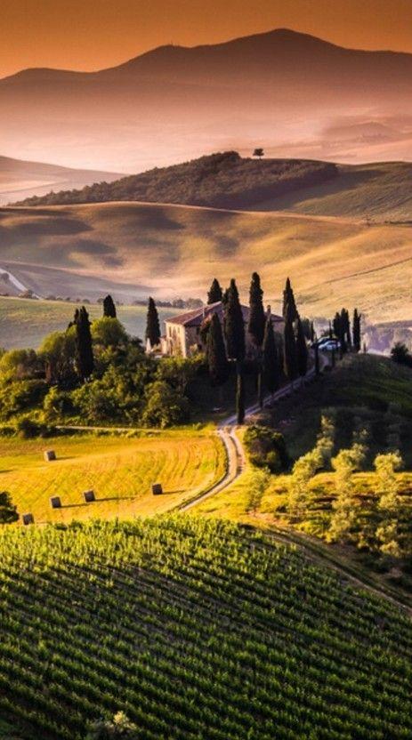 Villa I Pini near the medieval town of San Gimignano in Tuscany, Italy • photo: Francesco Riccardo Lacomino