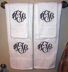 Custom Hand Towel | Monogrammed Preppy Towel | Personalized Towels