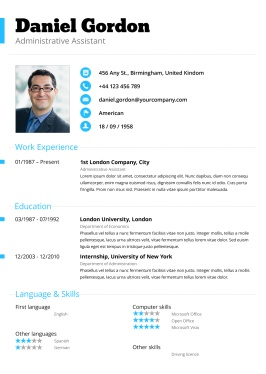 pale blue resume clean simple career pinterest
