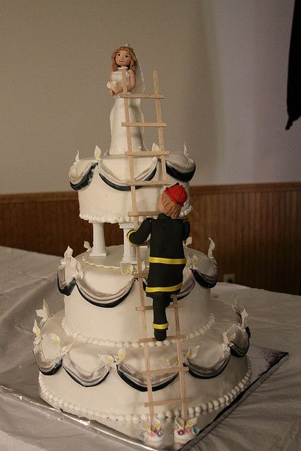Tyler Daniel~~it is either gonna be this Fireman Wedding Cake or the VDub Bus cake if you ever get married. Scratch that, lets just practice making the cakes!!