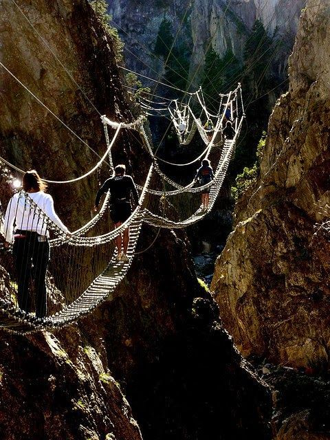 The Tibetan Bridge -- I don't know if I'd be brave enough to do this walk, but it certainly would be interesting and adventuresome.