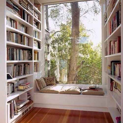I could get down in this book nook. Though, it could use some more cushioning.