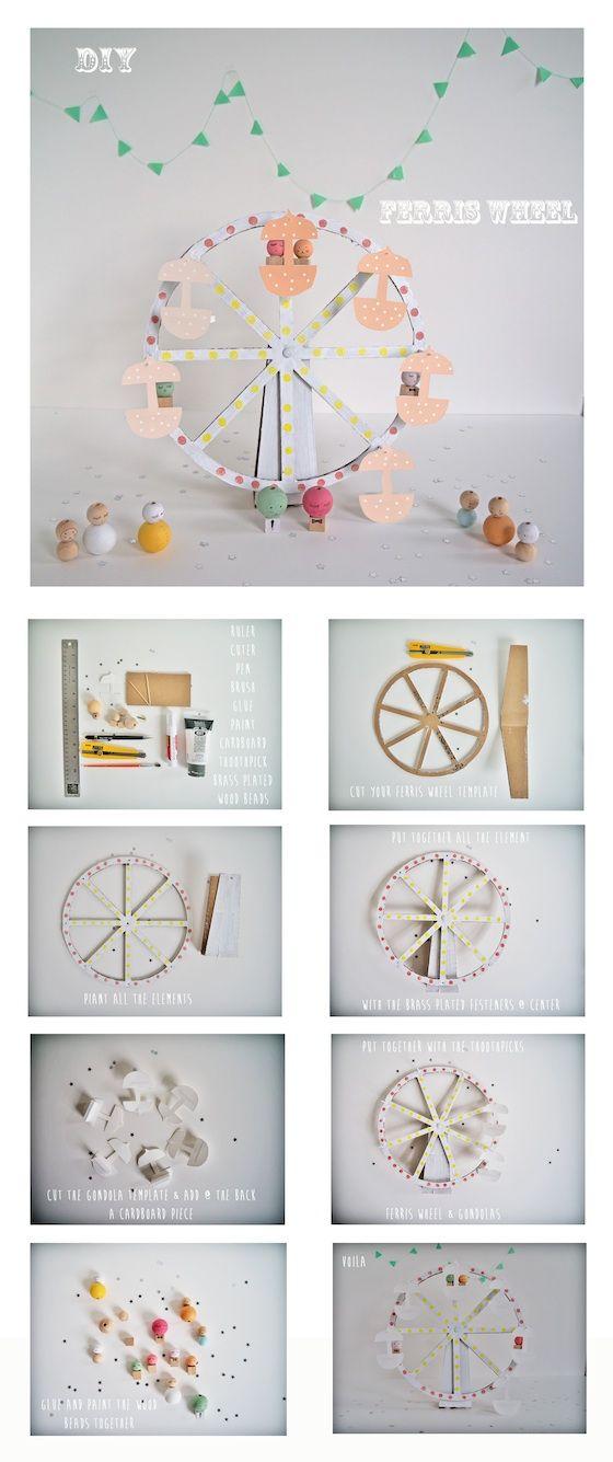 DIY ferris wheel & Templates- by La maison de Loulou Blog