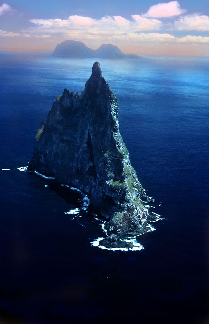 Ball's pyramid, the world's tallest seastack, off the Eastern coast of Australia.