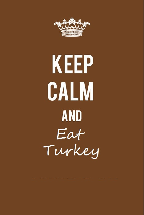 I made this for all you meat eaters; I thought it would be kind of cute. More for Canadians seeing as Thanksgiving is only a month away.