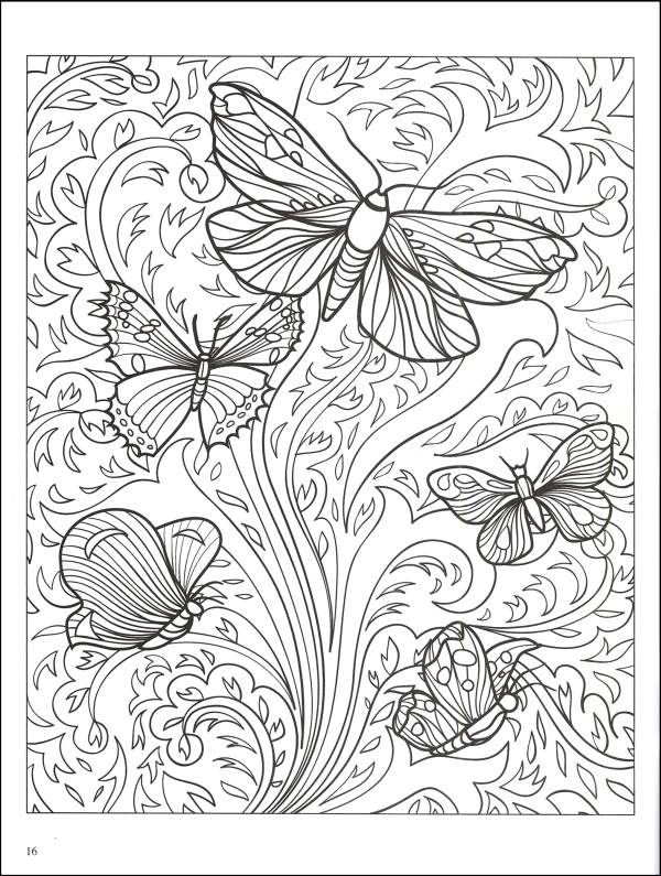 abstract coloring pages beautiful butterfly designs coloring book