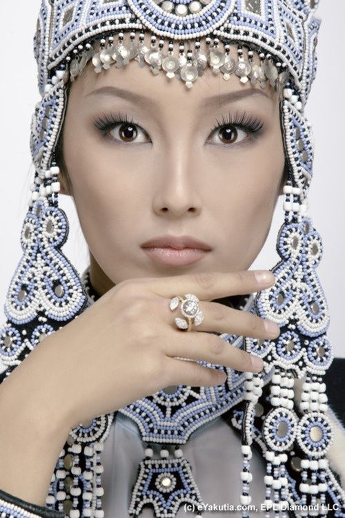 Lovely. Yakut woman, Yakutistan, Russia.