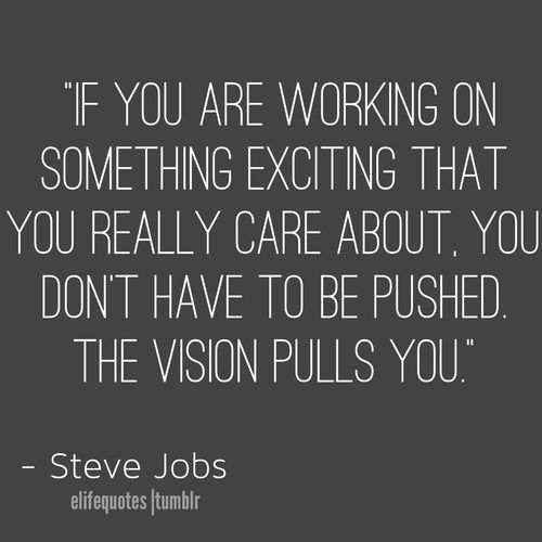 Quotes • Vision #Quotes -Steve Jobs