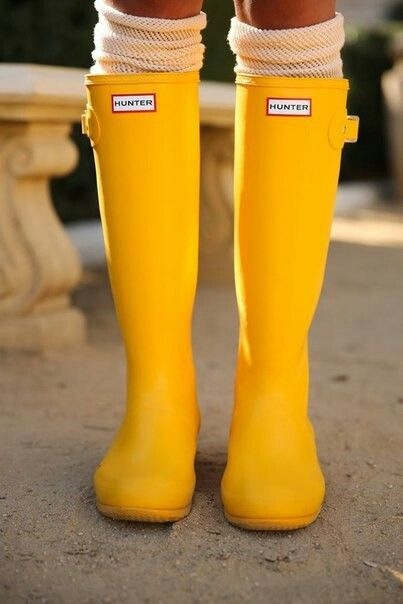Yellow rainboots..