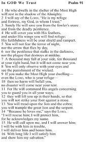 image regarding Psalm 91 Printable known as psalm 91 prayer card