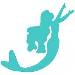 simple silhouette mermaid tattoos pinterest