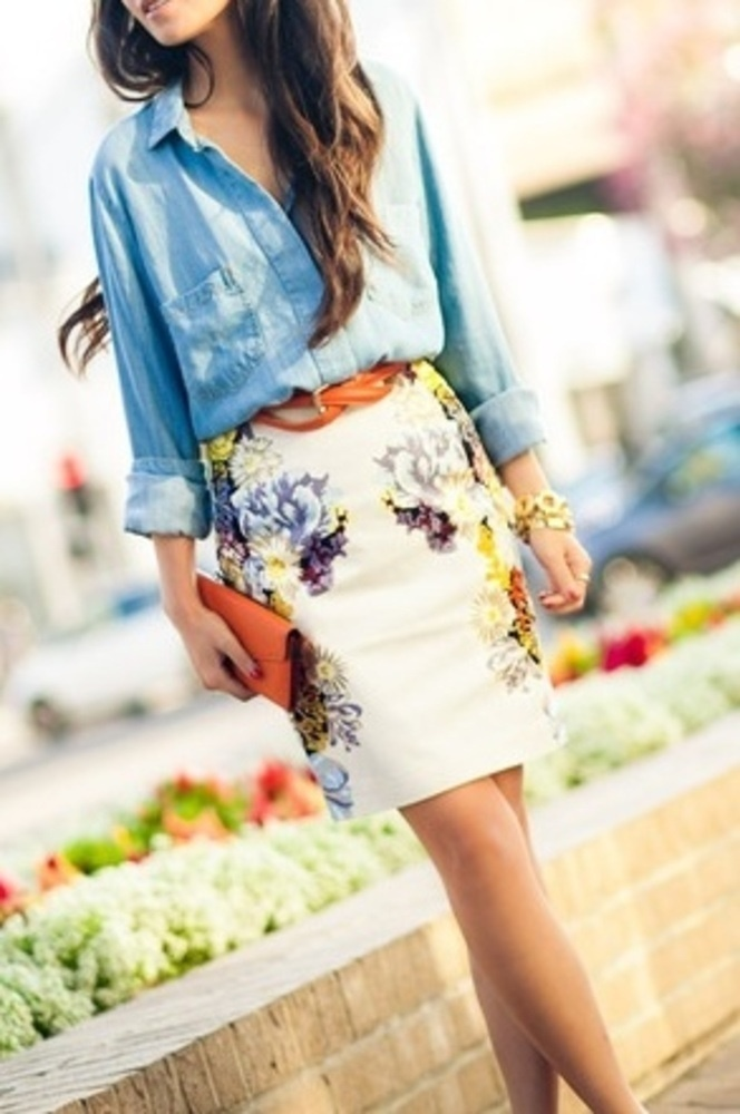 chambray and florals