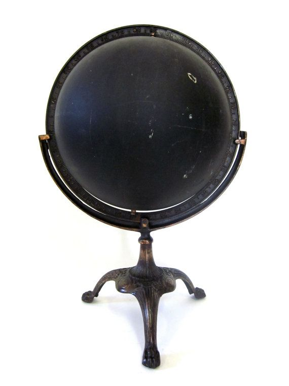 Blackboard paint on an outdated globe