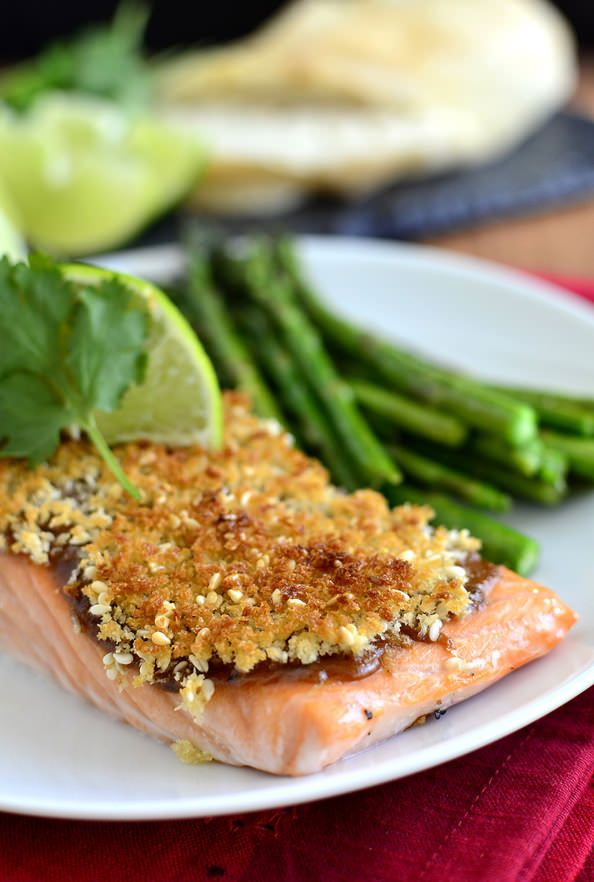 Crispy Baked Asian Salmon by iowagirleats #Salmon #Asian