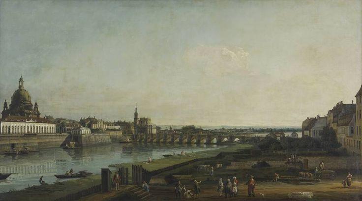 Bernardo Bellotto Dresden from the right bank of the Elbe above the Augustus Bridge, 1747, oil on canvas, 132 x 236 cm, Gemäldegalerie Alte ...