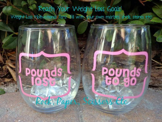 Custom Weight Loss Counter Decals //DIY  Motivation Pounds lost, Pounds to Go // Choose colors and font on Etsy, $5.50
