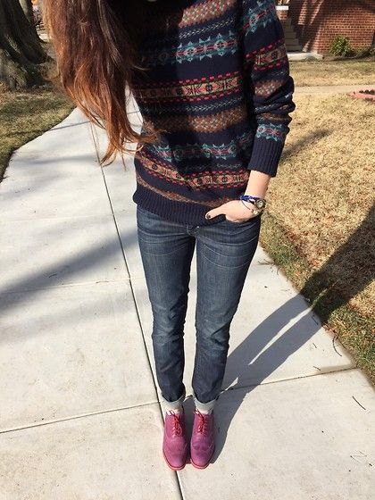 J. Crew Sweater, Levi's® Jeans, Cole Haan Shoes