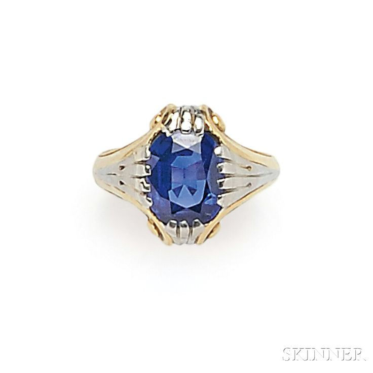 Art Deco Sapphire Ring, Tiffany & Co. | Sale Number 2746B, Lot Number 662 | Skinner Auctioneers
