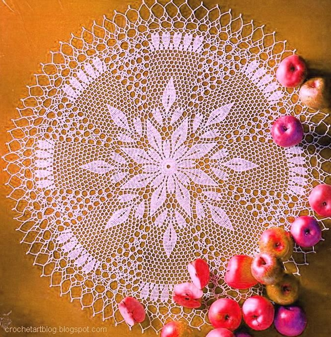 crochet flowers doily | Crochet Art: Crochet Lace Doilies - Crochet Flower - Free Pattern