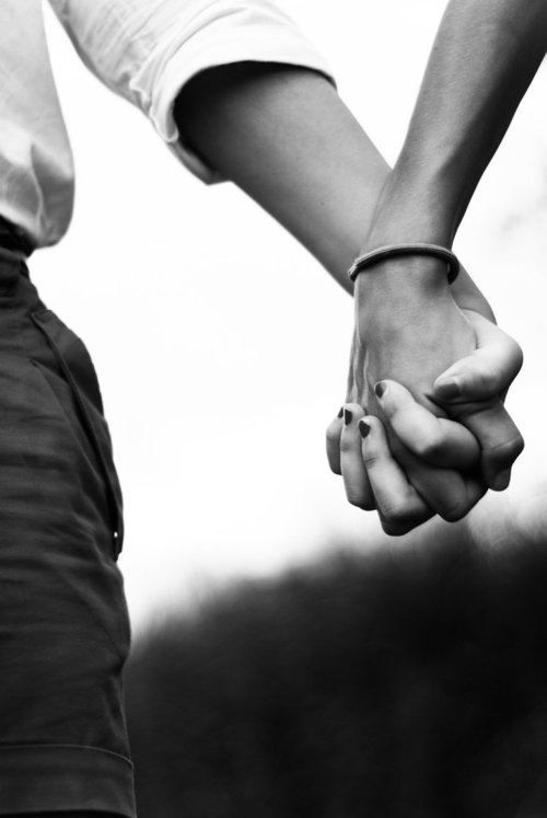 The first time he holds her hand, she feel as though she has fallen in love for the very first time, like all the other before him never existed or mattered.