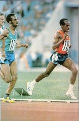Oromo athlete Tolossa Qottuu is currently the assistant coach of the Ethiopian National Athletic team. Tolossa had his own successful career in long-distance running which earned him 18 gold, 3 silver and 12 bronze medals. His rise to national level was as a result of his near win in the 5K race in 1972 which he narrowly lost to Miruts. Tolossa had participated in the Montreal and Moscow Olympics. http://www.oromiasports.com/athletics.html