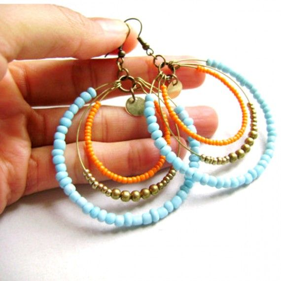 Colorful Hoop Earrings... beautiful!