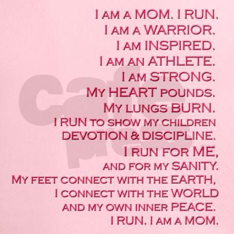 """Inspired Runner, Mom"" Peformance Dry T-Shirt by sublimesanctuary"