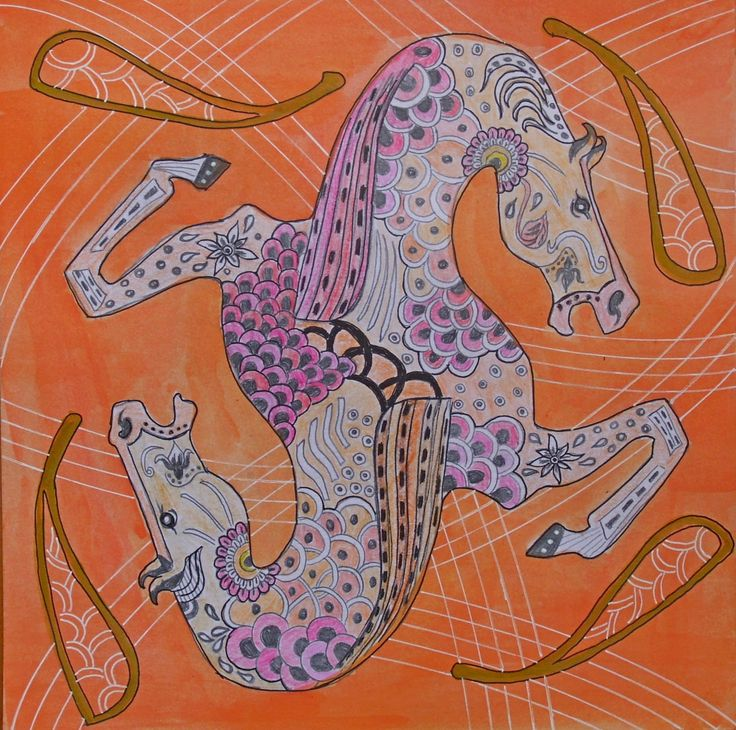 Entry from Zorka Veličković in the L. Lavone Scarf Design Contest, learn more at llavone.com/contest #horse #fashion #scarf