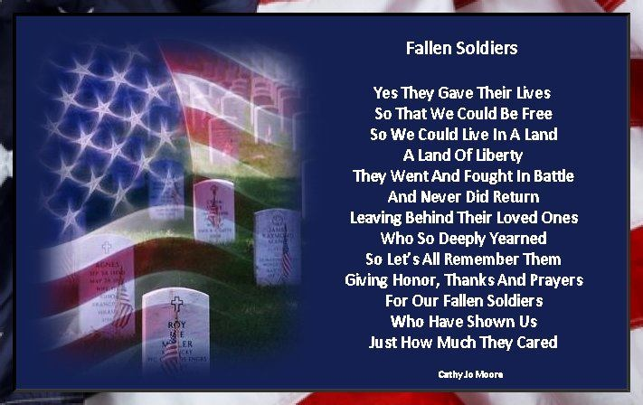 Fallen Soldier Poems And Quotes QuotesGram