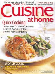 Cuisine at Home Magazine | $28.00 for TWO years | back issues available online